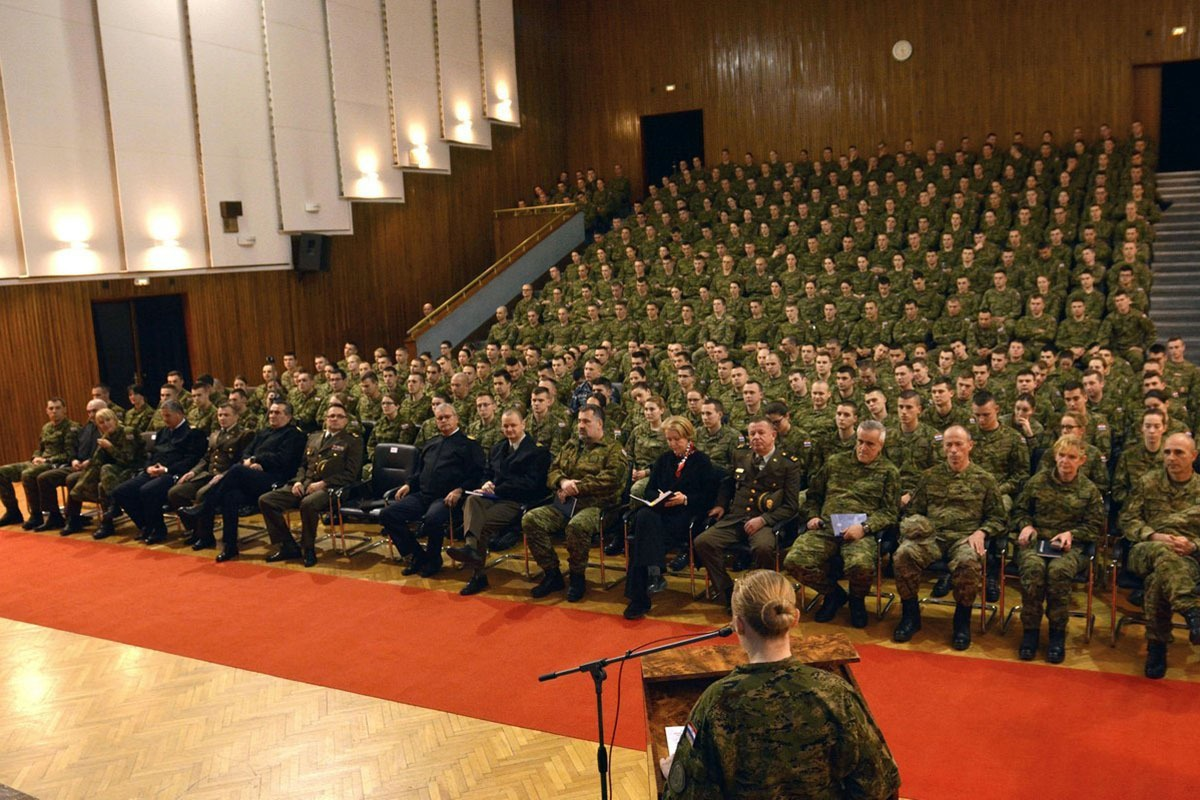 Admiral Raffanelli održao predavanje kadetima na HVU-a | Foto: HVU / M. Sever