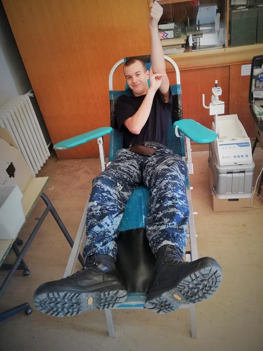 """Dobrovoljno darivanje krvi u vojarni """"Admiral flote Sveto Letica-Barba"""""""
