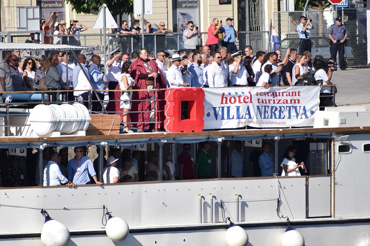 Hrvatska ratna mornarica prvi put na Maratonu lađa na Neretvi