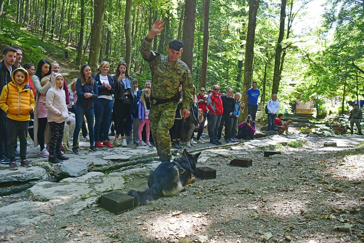 Hrvatska vojska sa službenim psima u humanitarnoj utrci na Medvednici