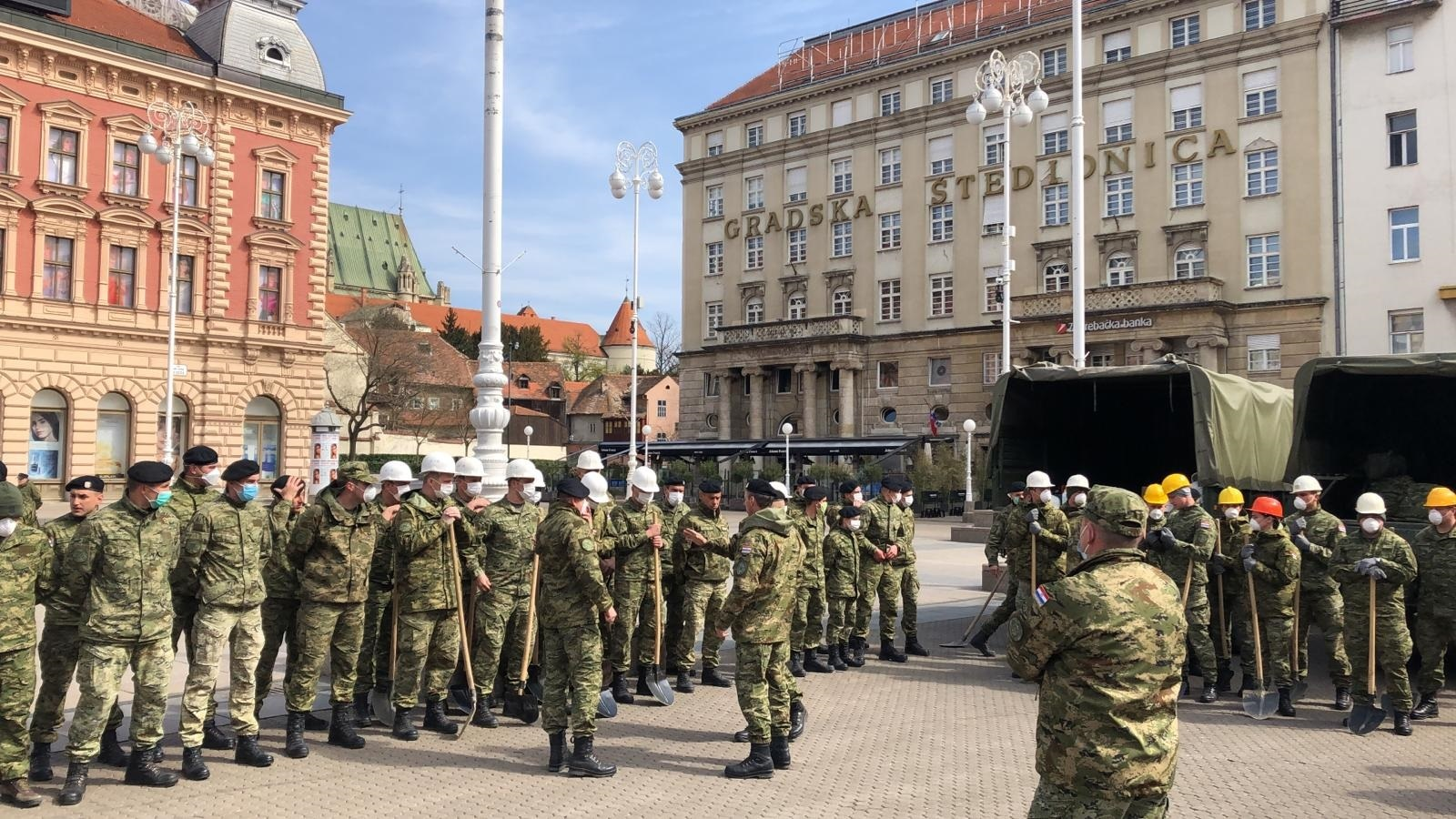 Hrvatska vojska u pomoći Zagrebu u sanaciji posljedica potresa