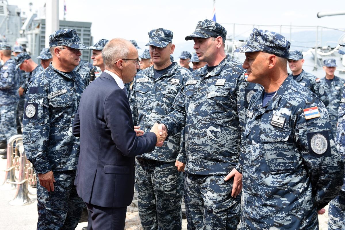 Ispraćen 2. HRVCON u NATO-ovu operaciju potpore miru Sea Guardian