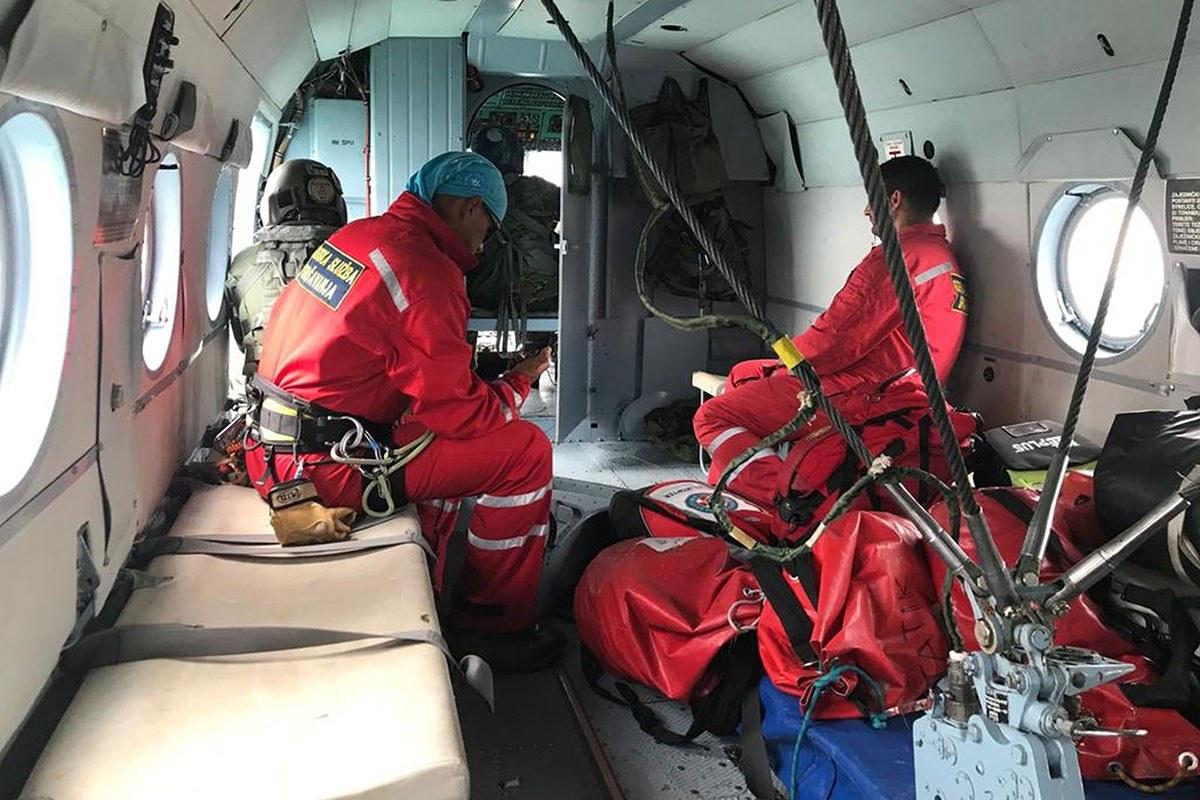 Letačka posada HRZ-a u dvije akcije spašavanja, Omiš