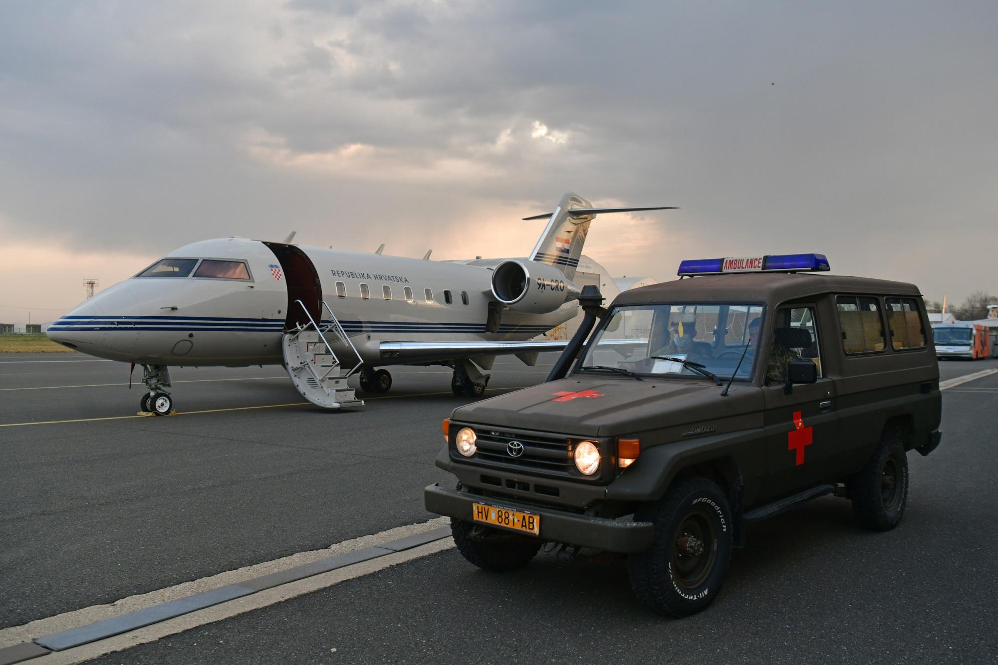 Medicinski tim Hrvatske vojske zrakoplovom Vlade RH upućen u Litvu