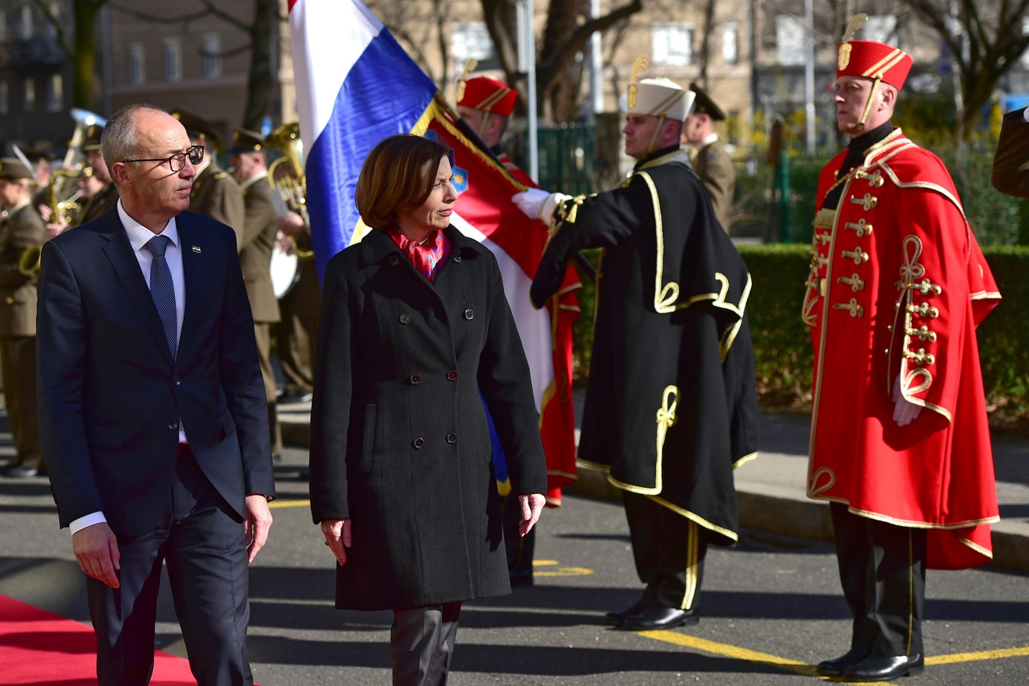 Ministrica Oružanih snaga Francuske Republike u posjetu MORH-u