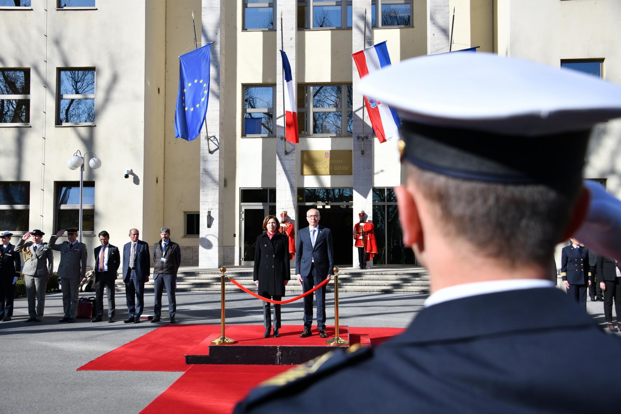 Ministar Krstičević sa francuskom ministricom Parly u MORH-u | Foto: MORH / F. Klen