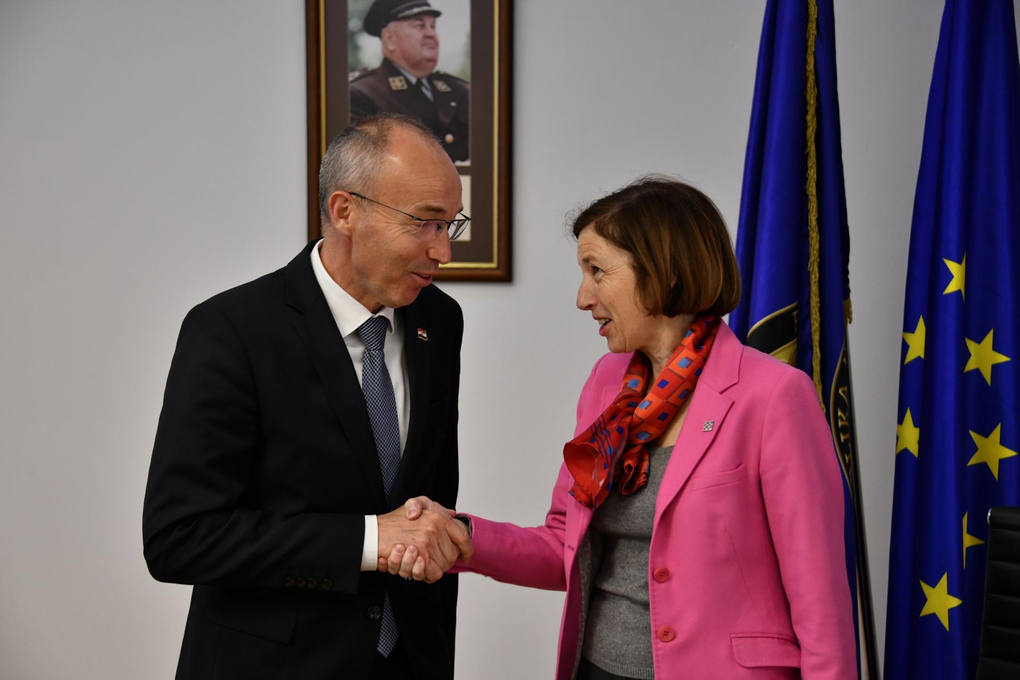 Ministar Krstičević sa francuskom ministricom Parly u MORH-u | Foto: MORH /F. Klen