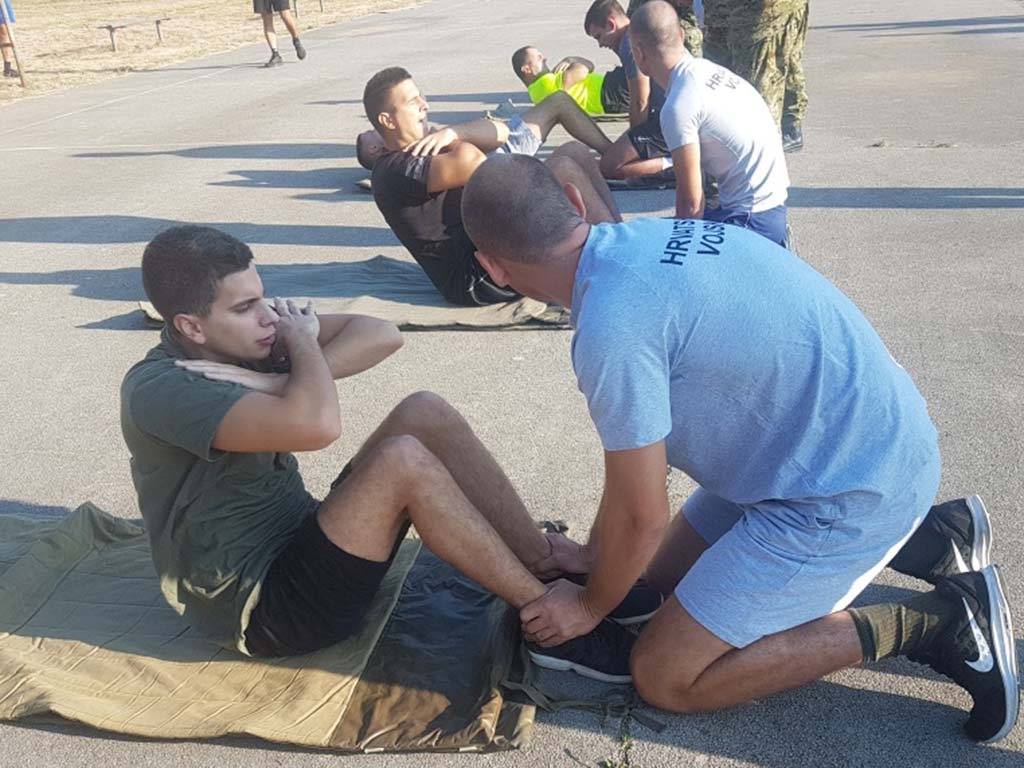 Testiranje vojnika HRZ-a za upućivanje na Izobrazbu za razvoj vođa