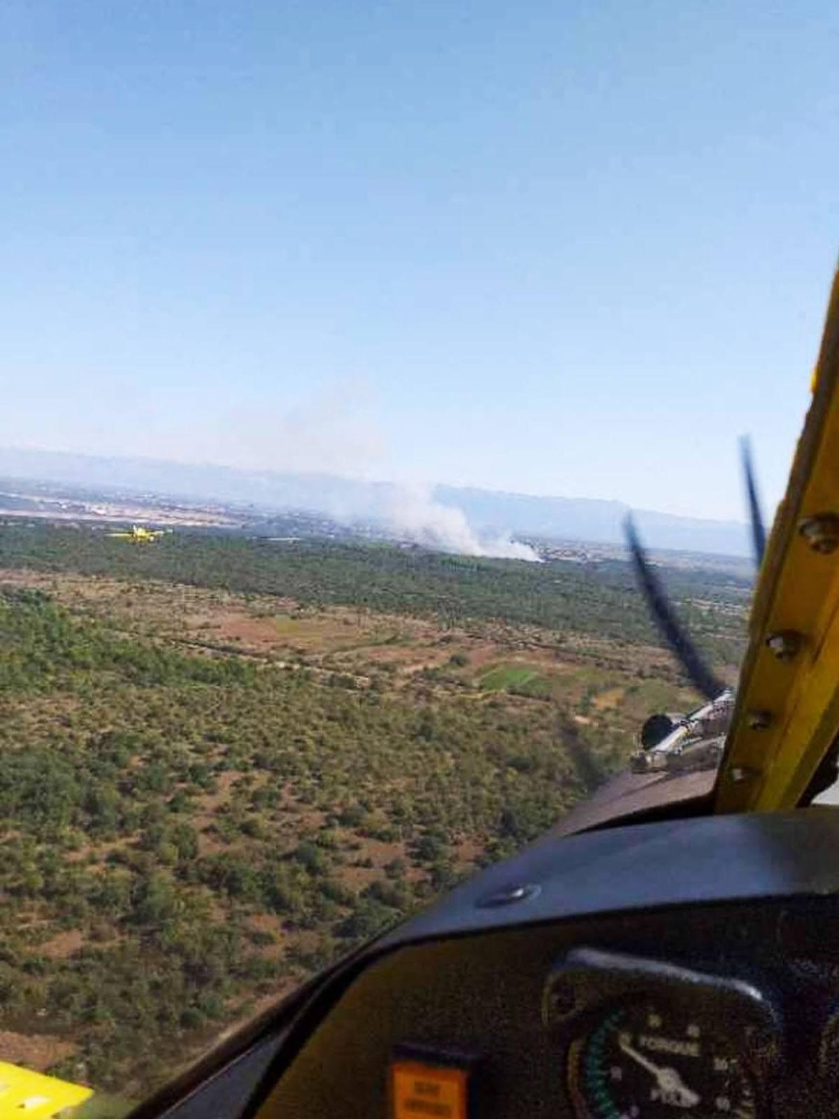 Zračne snage sudjeZračne snage sudjelovale u gašenju požara kod Zadra