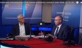 Damir Krstičević u emisiji A sada Vlada