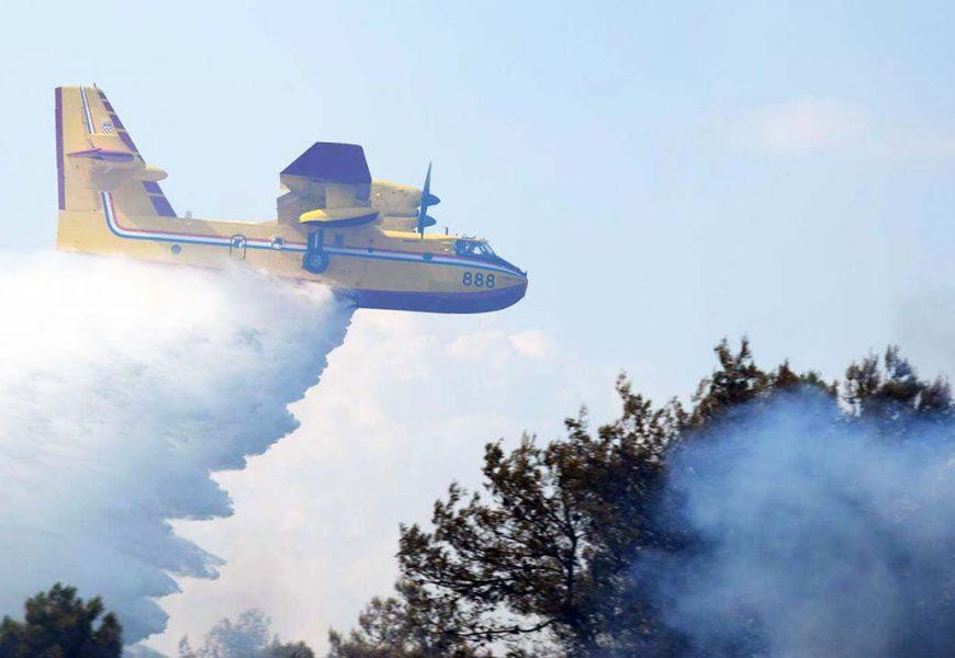Zračne snage gase požar kod Trogira
