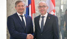 Ministar Krstičević sa slovenskim ministrom Erjavcem